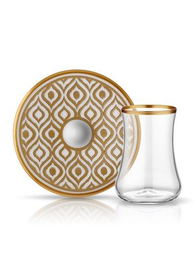 Koleksiyon Dervish Çay Seti 6'lı Ikat Altın-Koleksiyon